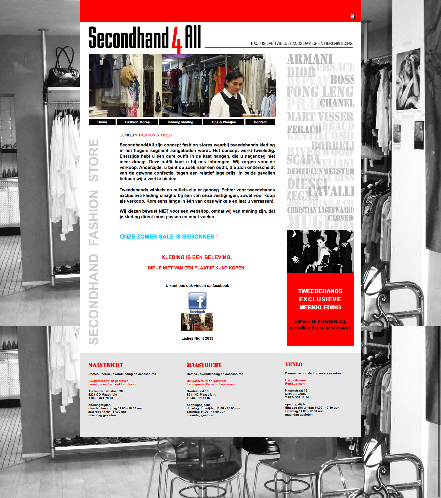 Webdesign Secondhand4all Maastricht